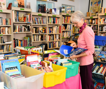 Donate some old books for the Oasis bookshop